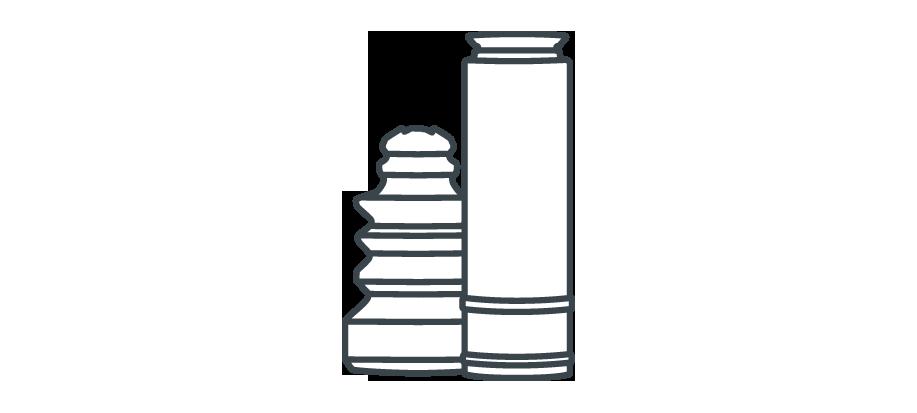Elementy montażowe amortyzatorów